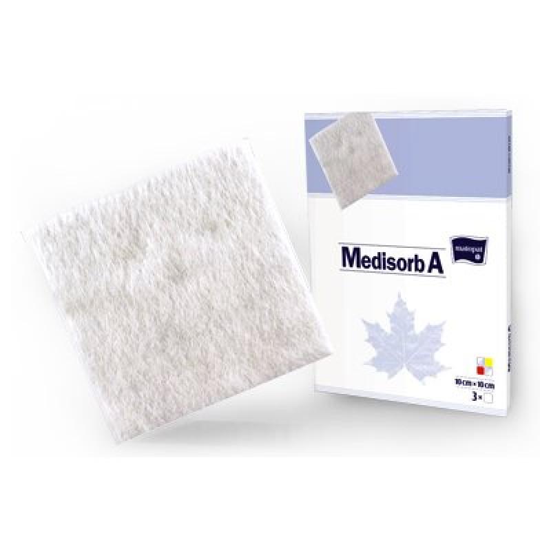 Medisorb A - pansament steril cu alginat de calciu 10x10cm - 1bc