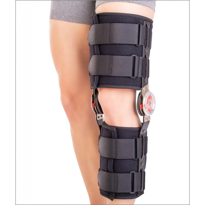 Orteza de genunchi mobila, cu articulatii reglabile