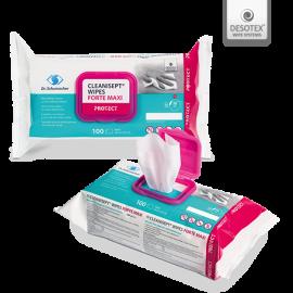 Servetele cu eficacitate sporicida impotriva Clostridium dificile - CLEANISEPT WIPES FORTE MAXI
