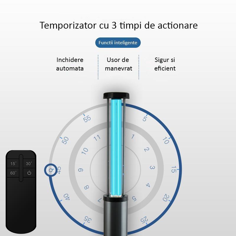 Lampa UVC + Ozon 150W profesionala - sterilizare 200 metri patrati