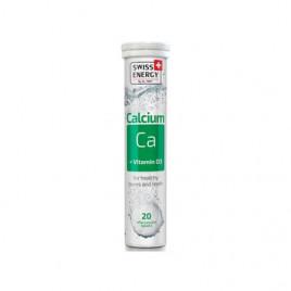 Calcium + Vitamin D3 x 20 Tablete Efervescente - SWISS ENERGY