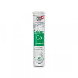Calcium + Vitamin D3 x 20 Tablete Efervescente - SWISS ENERGY