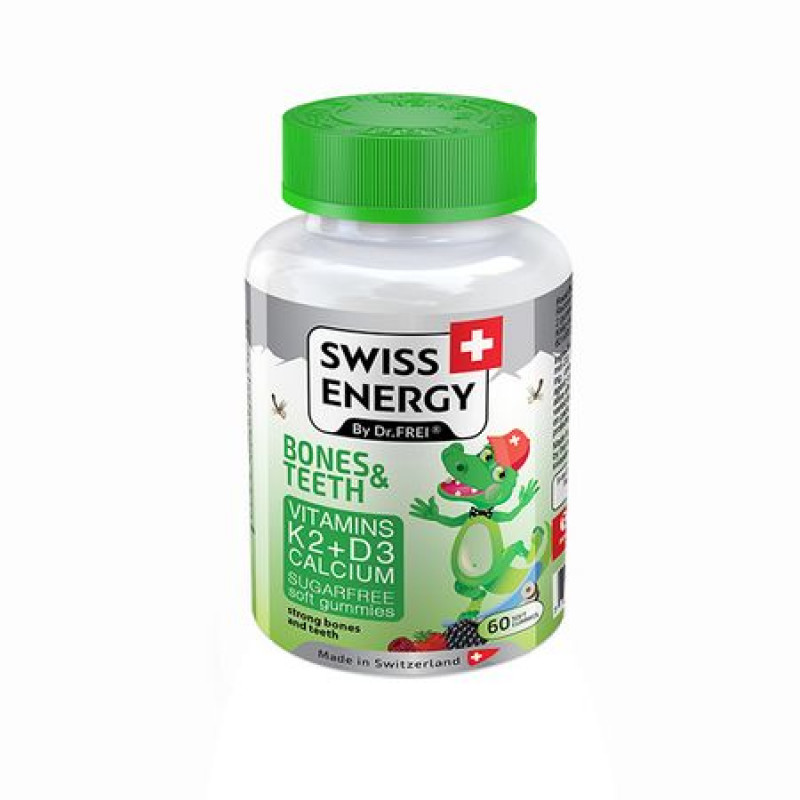 Vitamine, Jeleuri Bones and Teeths x 60 buc - Swiss Energy