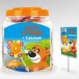 Acadele Cu Multivitamine + Calciu (Aroma De Portocale) - SWISS ENERGY KIDS