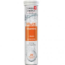 Multi Vitamins Cu Biotin + A, B, E, D3 x 20 Tablete Efervescente - SWISS ENERGY