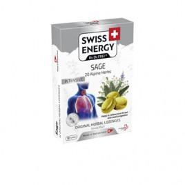 Pastile pentru Gat cu Salvie + 20 Ierburi Alpine - Swiss Energy