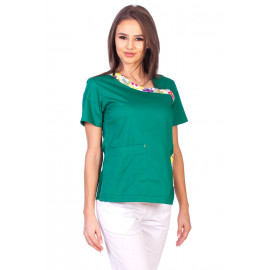 Bluza Imprimata - Green Blossom Fashion Stretch