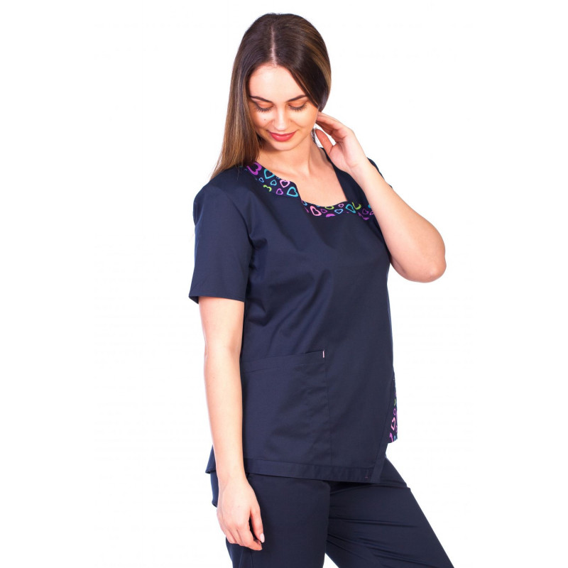 Bluza Imprimata - Blue Hearts Fashion Stretch