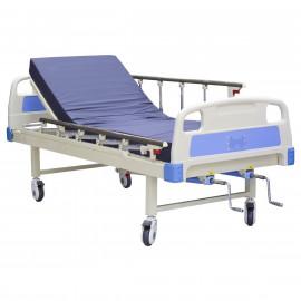 Pat medical manual cu suport perfuzie si saltea inclusa