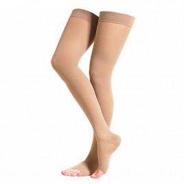 Ciorapi compresivi pana pe coapsa 18-21 mmHg cu varf deschis - Novamed