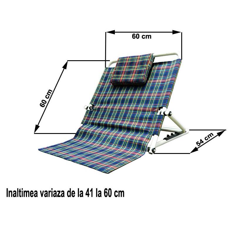 Suport reglabil pentru rezemat spate 60 x 60 cm