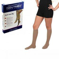 Ciorapi compresivi 3/4 18-21 mmHg cu varf inchis - Novamed