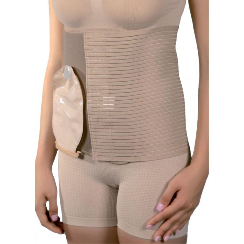 Corset abdominal pentru stoma cutanata