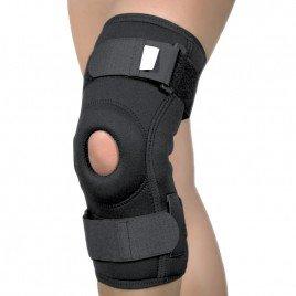 Orteza de genunchi cu suport patelar si articulatii mobile