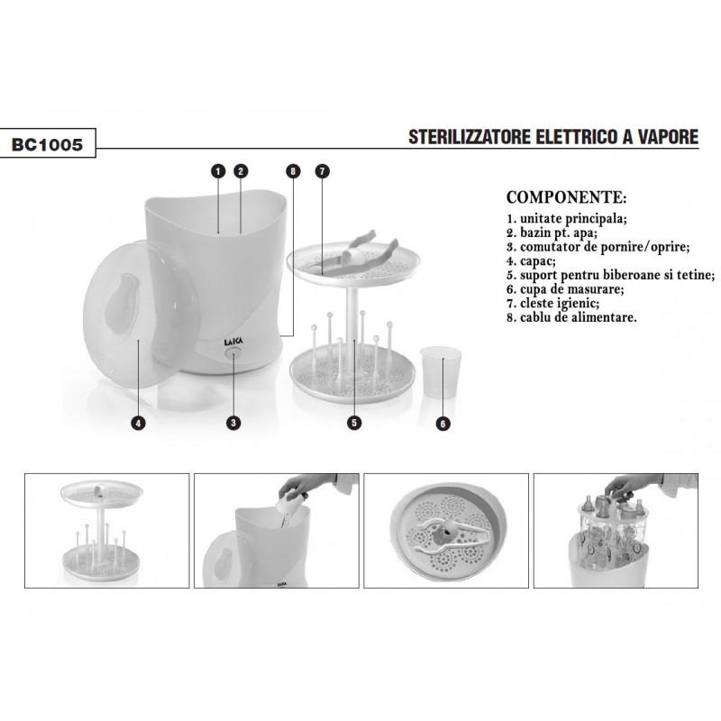 Sterilizator de biberoane cu aburi - Laica BC1005